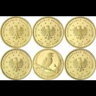 Deutschland-5-x-20-Euro-2016-Nachtigall-Komplettsatz