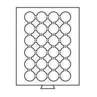 301417 - Münzbox 24 runde Fächer für 35 mm Ø - rauchfarbe
