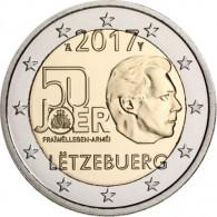 50 Jahre freiwilliger Wehrdienst von Luxemburg 2 Euro Sondermuenze