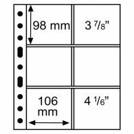 Leuchtturm 316604 -  GRANDE Hüllen  3/2C  5er Pack  Klar