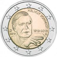 Deutschland 2 Euro Gedenkmuenzen 2018 Helmut Schmidt Mzz. D