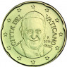 Vatikan 20 Cent 2016 bfr.  Papst  Franziskus