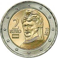 Österreich 2 Euro 2010 bfr. B.v.Suttner