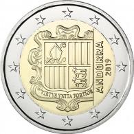 Andorra 2 Euro 2019 Staatswappen