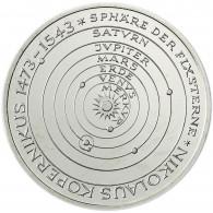 Gedenkmünze Deutschland 5 DM Silber 1973 Stgl. Nikolaus Kopernikus