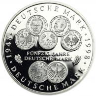 Deutschland 10 DM Silber 1998 PP 50 Jahre Deutsche Mark Mzz. komplett A bis J
