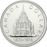 Kanada 1 Dollar 1976   Silber        Parlamentsbibliothek