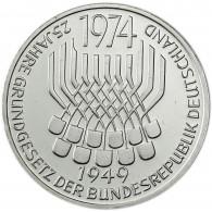 5 DM Gedenkmünze 1974 Grundgesetz der Bundesrepublik Deutschland