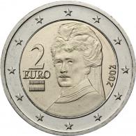 Österreich 2 Euro 2002 bfr. Berta von Suttner