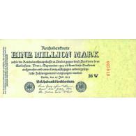 Banknote Inflation 1 Million  Mark Reichsbanknote