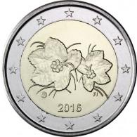 Kursmünze aus Finnland 2 Euro 2016 mit dem Motiv der Moltebeere