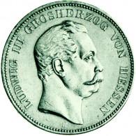 J.67 5 Mark Ludwig III Hessen 1875-1876