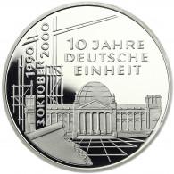 Deutschland 10 DM Silber 2000 PP 10 Jahre Deutsche Einheit komplett Mzz.  A bis J