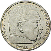 J.367 - 5 Reichsmark Paul von Hindenburg mit HK  1936 - 1939