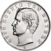 Kaiserreich 3 Mark 1908 - 1913 König Otto von Bayern J.47 I