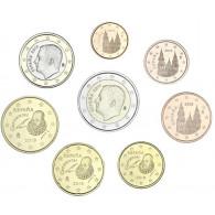 Spanien Kursmünzen Euro Cent Sammlerqualität  Jahrgang 2019