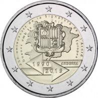Andorra 2 Euro Gedenkmünze 2015  25 Jahre Zollunion mit der EU lose