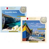 Malta  Euro-Kursmünzen-Sätze  2014 und 2015   Sonderedition