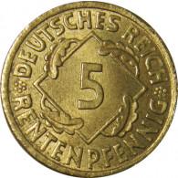5 Rentenpfennig 1923 -1924 J. 308