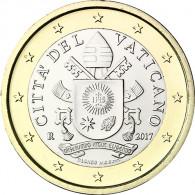 Vatikan Kuersmuenzen 1 Euro 2017 Papst Wappen