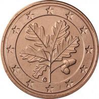 Deutschland 5 Euro-Cent 2016 Kursmünze mit Eichenzweig