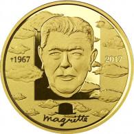 Belgien 100 Euro Gold 2017 PP René Magritte