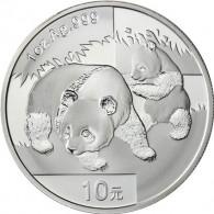 China 10 Yuan Silber 2008  Panda