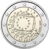 Europa Flagge 2 Euro Muenze Irland 2015