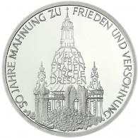 Deutschland 10 DM Silber 1995 Stgl. Zum Wiederaufbau der Frauenkirche in Dresden