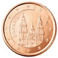 Spanien 1 Cent 2006 bfr. Kathedrale von Santiago de Compostela