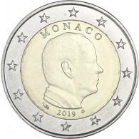 Monaco 2 Euro 2019 Albert II prägefrisch