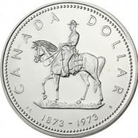 Kanada  1 Dollar 1973 Silber     Berittene Polizei