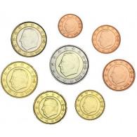 Belgien 1 Cent - 2 Euro 2002 bfr. lose im Münzstreifen KMsv