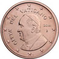 Kursmünzen Kirchenstaates Vatikan 2 Euro-Cent 2014  Papst Franziskus ✓ selten ✓ Nie im Zahlungsverkehr zu finden ✓ Münzkatalog bestellen