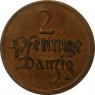D 3 - Danzig  2 Pfennig  1923-26