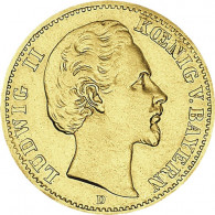 Kaiserreich Gold  5 Mark 1877-1878 Bayern Ludwig II.  J. 195