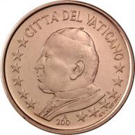 Vatikan Kursmünzen 1 Cent 2003 mit dem Motiv von Papst Johannes Paul II
