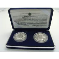 "San Marino 5 + 10 Euro 2002 Silber  PP ""Willkommen Euro"" im Etui"