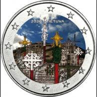 Litauen-2-Euro-2020-Berg-der-Kreuze-Farbe