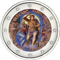 Vatikan 2 Euro - Gedenkmünze  2019 25 J. Restaurierung der Sixtinischen Kapelle in Farbe