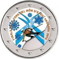 2 Euro Sondermünze Ski Alpine WM Cup in Andorra 2019