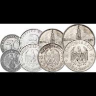 Münzen-Satz-Drittes-Reich