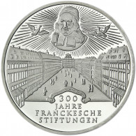 Deutschland 10 DM Silber 1998 Stgl. 300 Jahre Frankesche Stiftungen