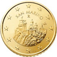 San Marino 50 Cent 2008 bfr. Festungstürme Monte Titano