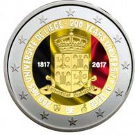 2 Euro Belgien 2017 Lüttich Farbmotiv