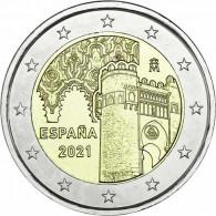 Spanien-2-Euro-2021-bfr-Altstadt-von-Toledo-UNESCO-Serie-I