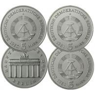 DDR Gedenkmünzen Brandenburger Tor 5 Mark