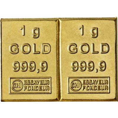 Goldbarren2 Gramm Feingold Tafelbarren CombiBar Minigoldbarren