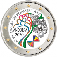 Andorra-2-Euro-2020-Ibero-Amerika-Gipfel-Farbe-I