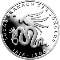 BRD 10 Euro Silbermünze 2015 PP Lucas Cranach